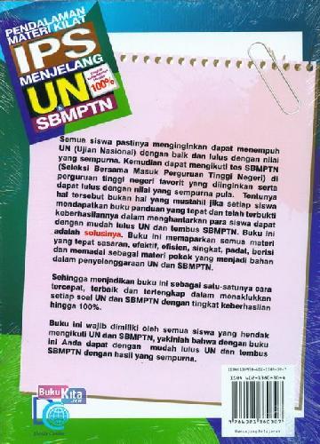 Cover Belakang Buku Pendalaman Materi Kilat I Menjelang UN & SBMPTN