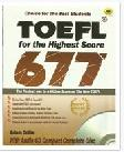 Cover Buku TOEFL FOR THE HIGHEST SCORE 677