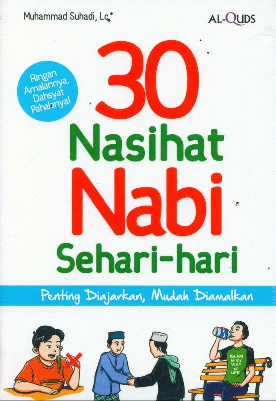 Cover Buku 30 NASIHAT NABI SEHARI-HARI