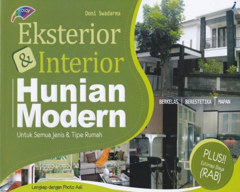 Cover Buku Eksterior & Interior Hunian Modern
