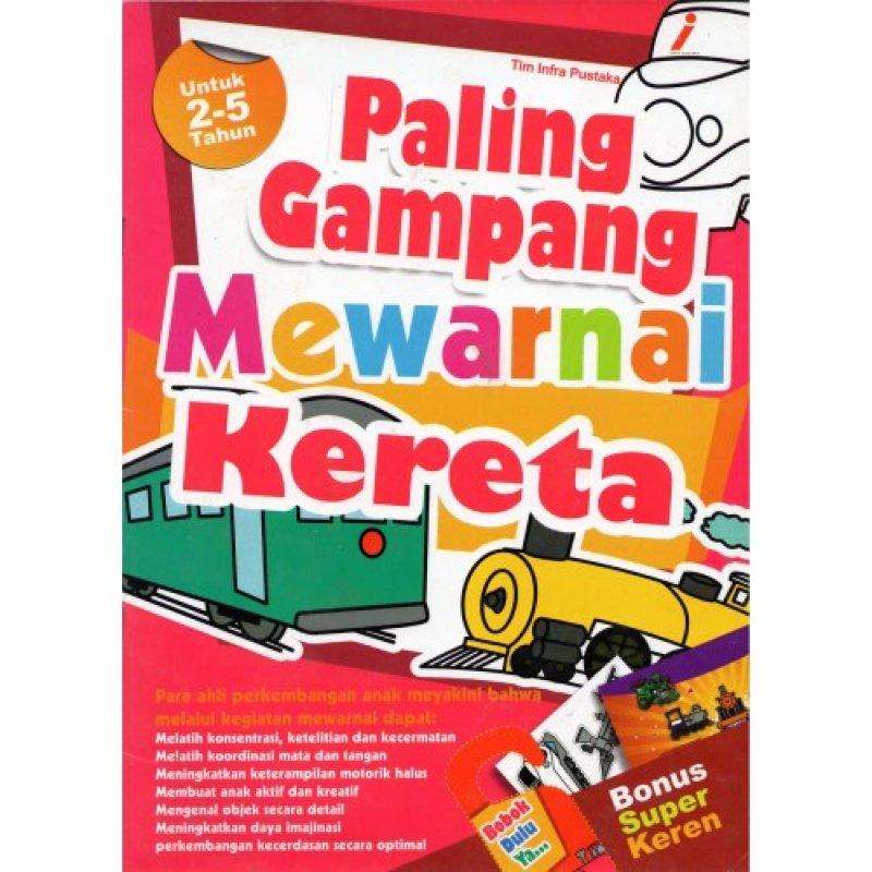 Cover Buku Paling Gampang Mewarnai Kereta