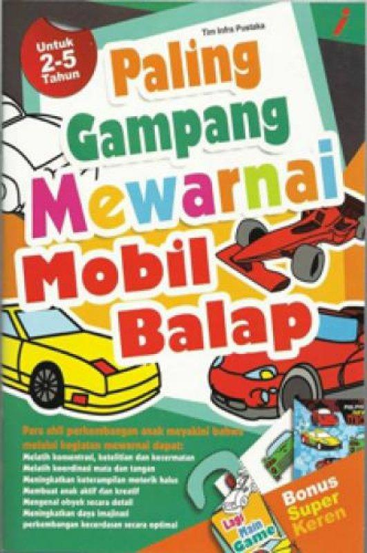 Cover Buku Paling Gampang Mewarnai Mobil Balap
