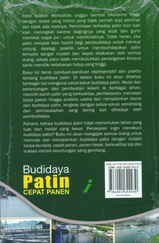 Cover Belakang Buku BUDIDAYA PATIN CEPAT PANEN