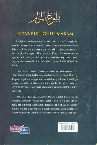 Cover Belakang Buku Kitab Bulughul Maram