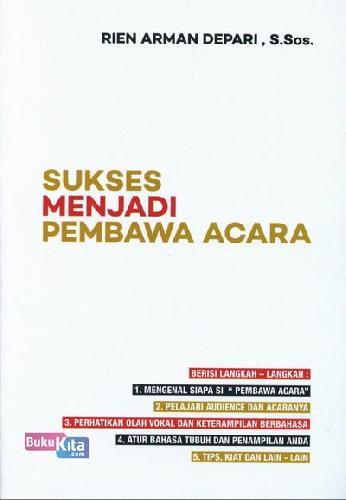 Cover Buku Sukses Menjadi Pembawa Acara