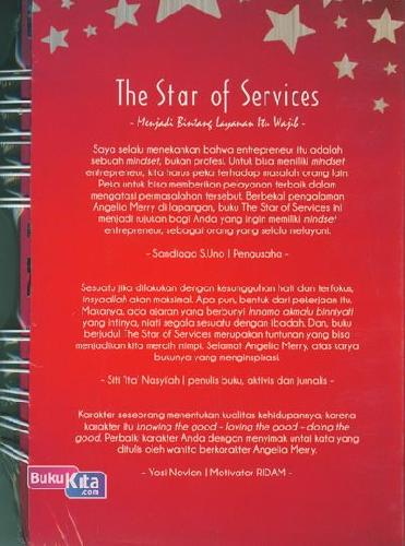Cover Belakang Buku The Star Of Service ( Menjadi Bintang Layanan Itu Wajib )