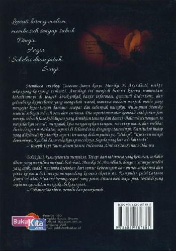 Cover Belakang Buku Catatan Sunyi