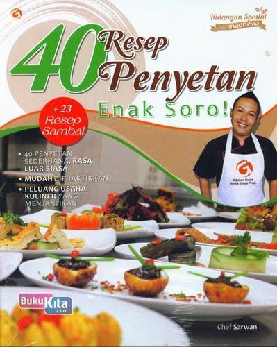 Cover Buku 40 Resep Penyetan Enak Soro