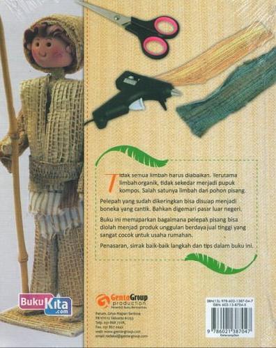 Cover Belakang Buku D'BOOGZ DOLLS ( 25 Boneka Cantik dari Pelepah Pisang )
