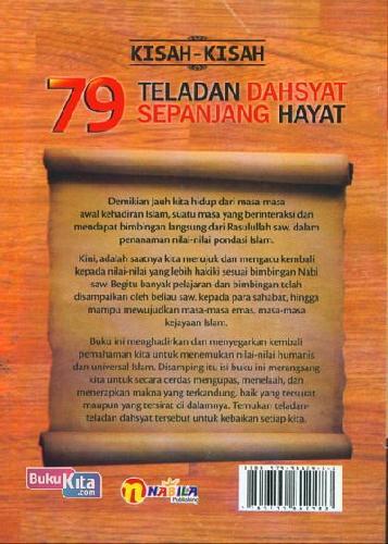 Cover Belakang Buku Kisah-kisah 79 Teladan Dahsyat Sepanjang Hayat