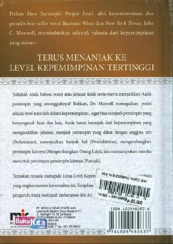 Cover Belakang Buku How Successful People Lead