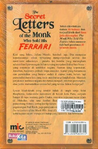 Cover Belakang Buku The Secret Letters of the Monk Who Sold His Ferrari