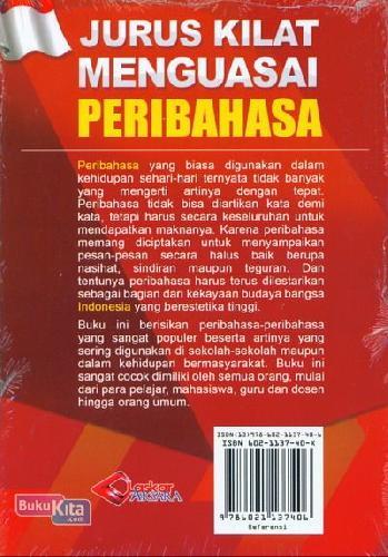 Cover Belakang Buku Jurus Kilat Menguasai Peribahasa