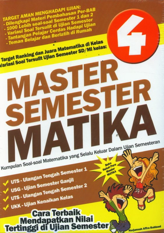 Cover Buku SD/Mi Kl 4 Master Semester Matika