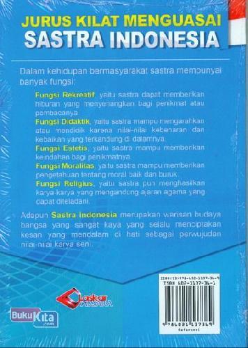 Cover Belakang Buku Jurus Kilat Menguasai Sastra Indonesia