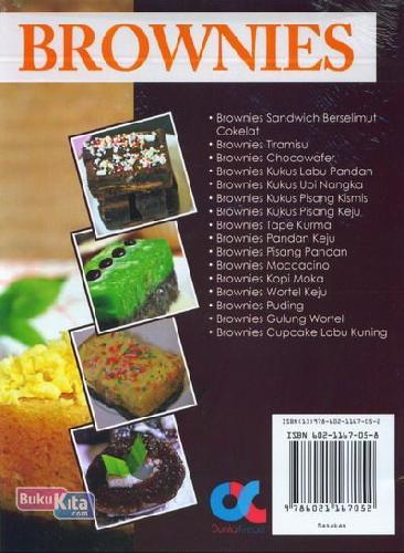 Cover Belakang Buku Brownies: Kreasi Brownies Full Topping