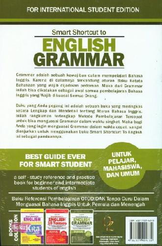 Cover Belakang Buku Smart Shortcut to English Grammar