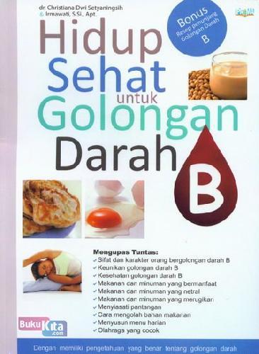 Cover Buku Hidup Sehat untuk Golongan Darah B