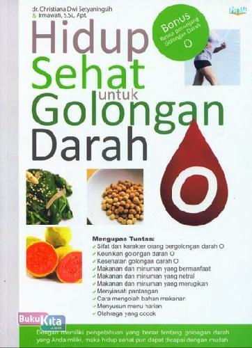 Cover Buku Hidup Sehat untuk Golongan Darah O