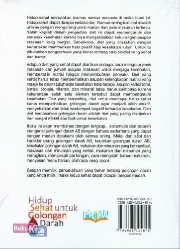 Cover Belakang Buku Hidup Sehat untuk Golongan Darah AB