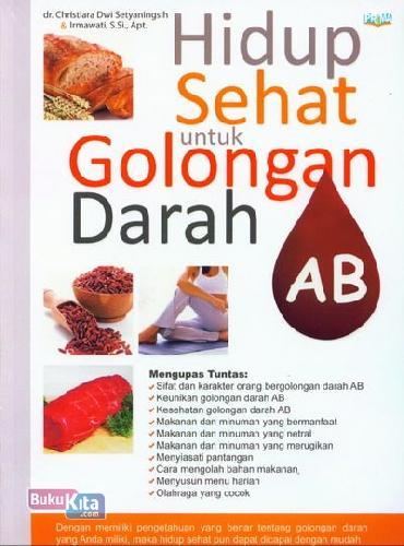 Cover Buku Hidup Sehat untuk Golongan Darah AB