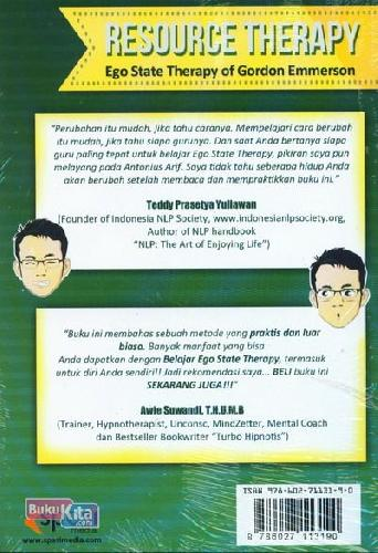 Cover Belakang Buku Resource Therapy : Ego State Therapy of Gordon Emmerson