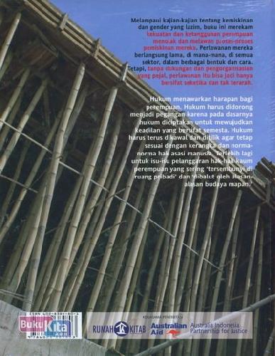 Cover Belakang Buku Menolak Tumbang : Narasi Perempuan Melawan Pemiskinan