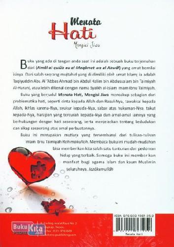 Cover Belakang Buku Menata Hati Mengisi Jiwa