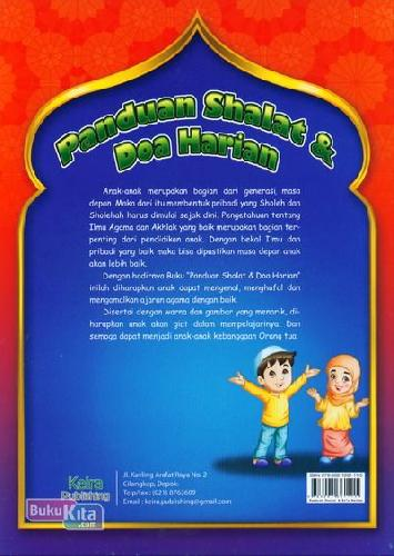 Cover Belakang Buku Panduan Shalat & Doa Harian