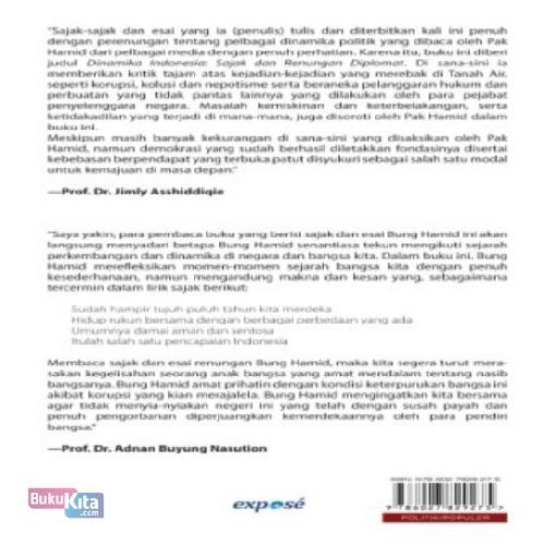 Cover Belakang Buku Dinamika Indonesia: Sajak Dan Renungan