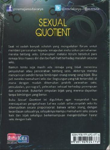 Cover Belakang Buku Sexual Quotient : Menggagas Kecerdasan Seksual Sejak Dini