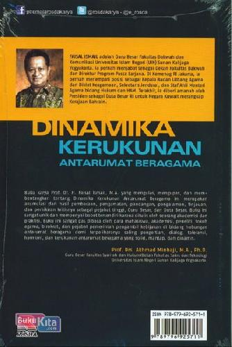 Cover Belakang Buku Dinamika Kerukunan Antarumat Beragama