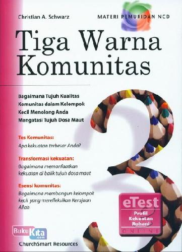 Cover Buku Tiga Warna Komunitas