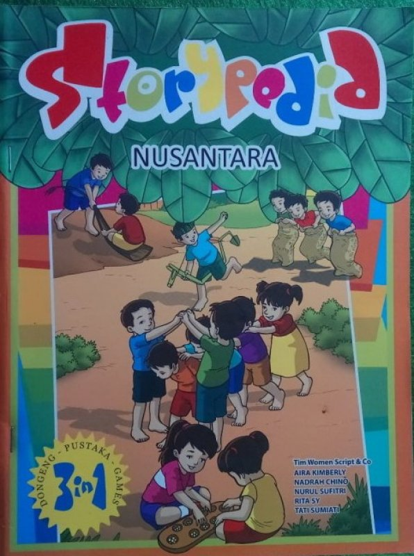 Cover Buku Storypedia Nusantara (Full Colour)