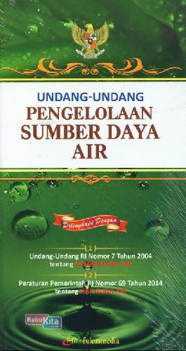 Cover Buku Undang-Undang Pengelolaan Sumber Daya Air