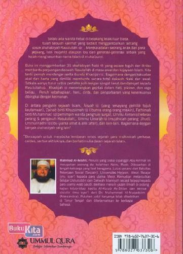 Cover Belakang Buku Biografi 35 Shahabiyah Nabi