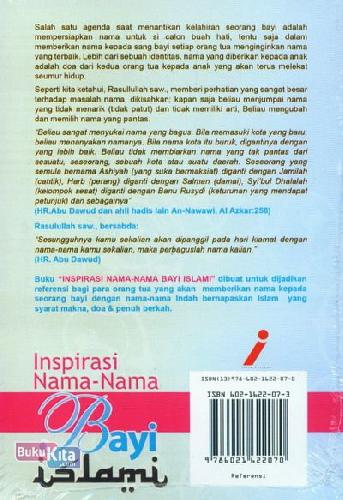 Cover Belakang Buku Inspirasi Nama2 Bayi Islami