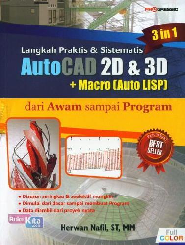 Cover Buku Langkah Praktis & Sistematis Autocad 2d & 3d + Macro