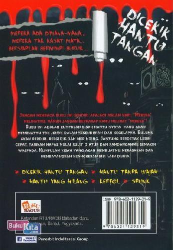 Cover Belakang Buku DICEKIK HANTU TANGAN