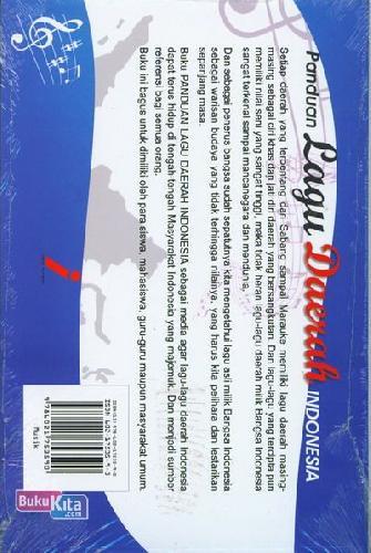 Cover Belakang Buku Panduan Lagu Daerah Indonesia (Edisi Lengkap)