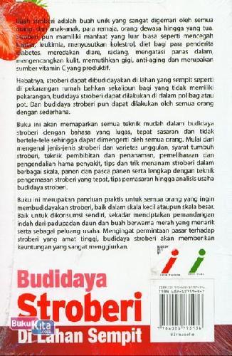 Cover Belakang Buku Budidaya Stroberi Di Lahan Sempit (Full Color)