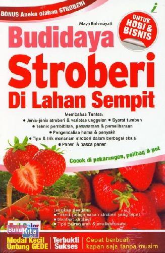 Cover Buku Budidaya Stroberi Di Lahan Sempit (Full Color)