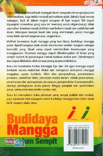 Cover Belakang Buku Budidaya Mangga Di Lahan Sempit (Full Color)