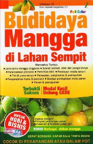 Cover Buku Budidaya Mangga Di Lahan Sempit (Full Color)