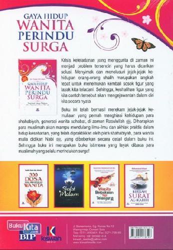 Cover Belakang Buku Gaya Hidup Wanita Perindu Surga