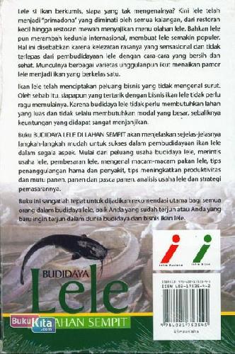Cover Belakang Buku Budidaya Lele Di Lahan Sempit