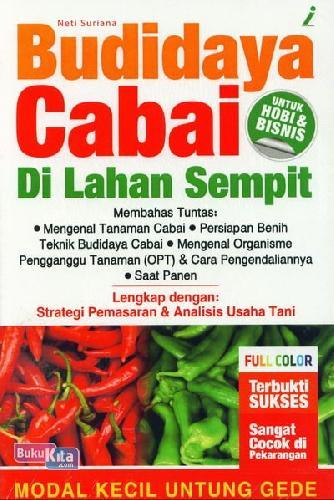 Cover Buku Budidaya Cabai Di Lahan Sempit