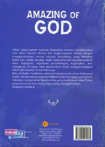 Cover Belakang Buku Amazing of God