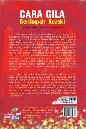 Cover Belakang Buku Cara Gila Berlimpah Rezeki