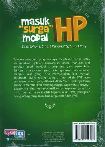 Cover Belakang Buku Masuk Surga Modal HP